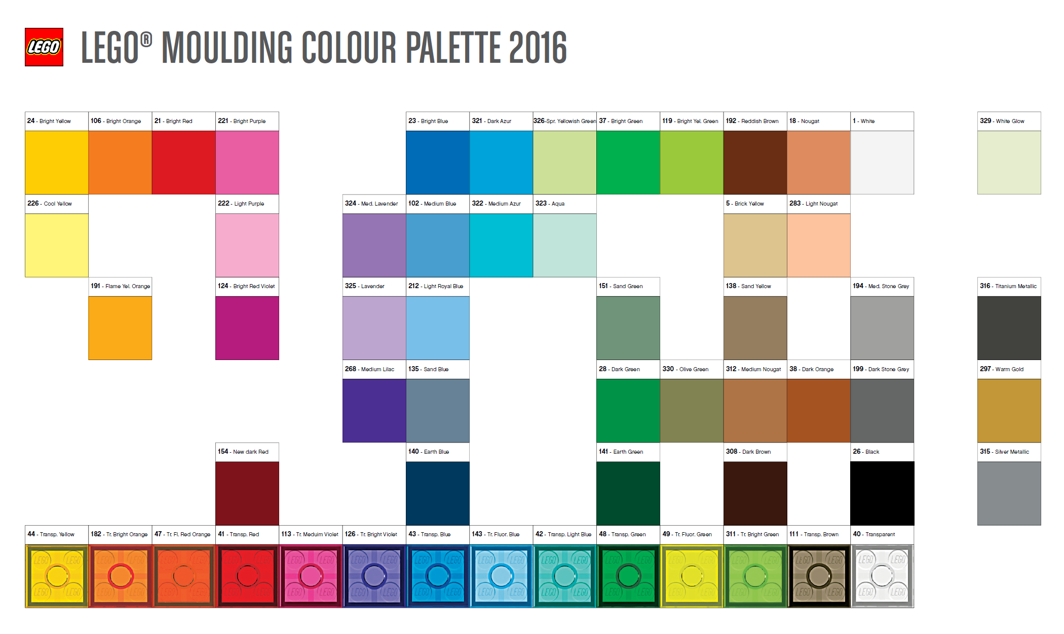 Here\'s this year\'s official colour palette | Brickset: LEGO set ...