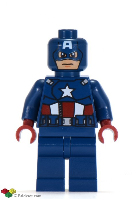 Super heroes brickset lego set guide and database - Lego capitaine america ...