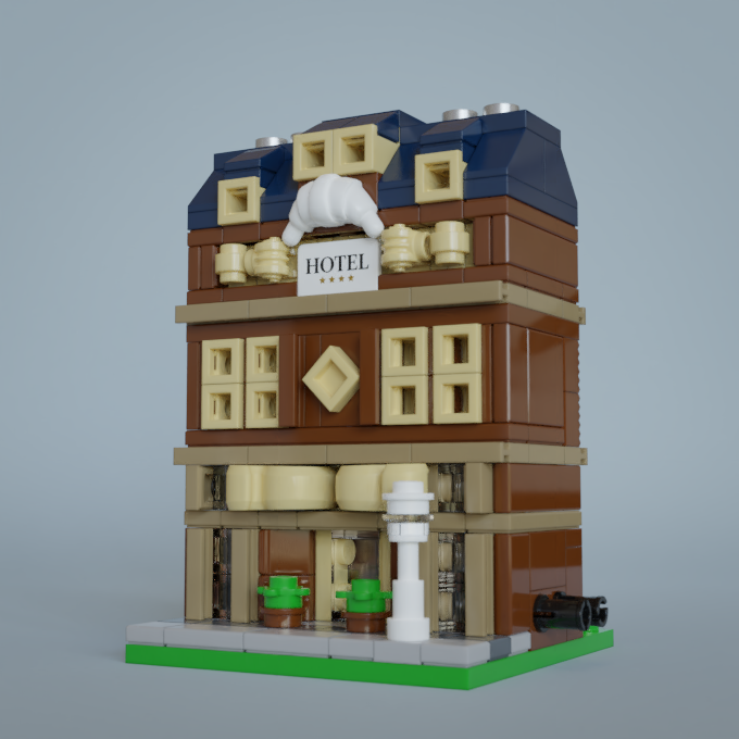 Example render - I've built and rendered this MOC on Mecabricks