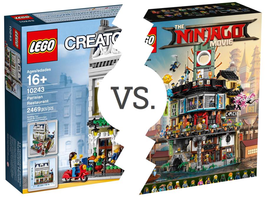 Brickset Bouts: Parisian Restaurant vs NINJAGO City