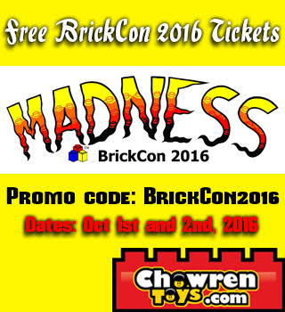 free tickets for brickcon 2016 brickset lego set guide and database