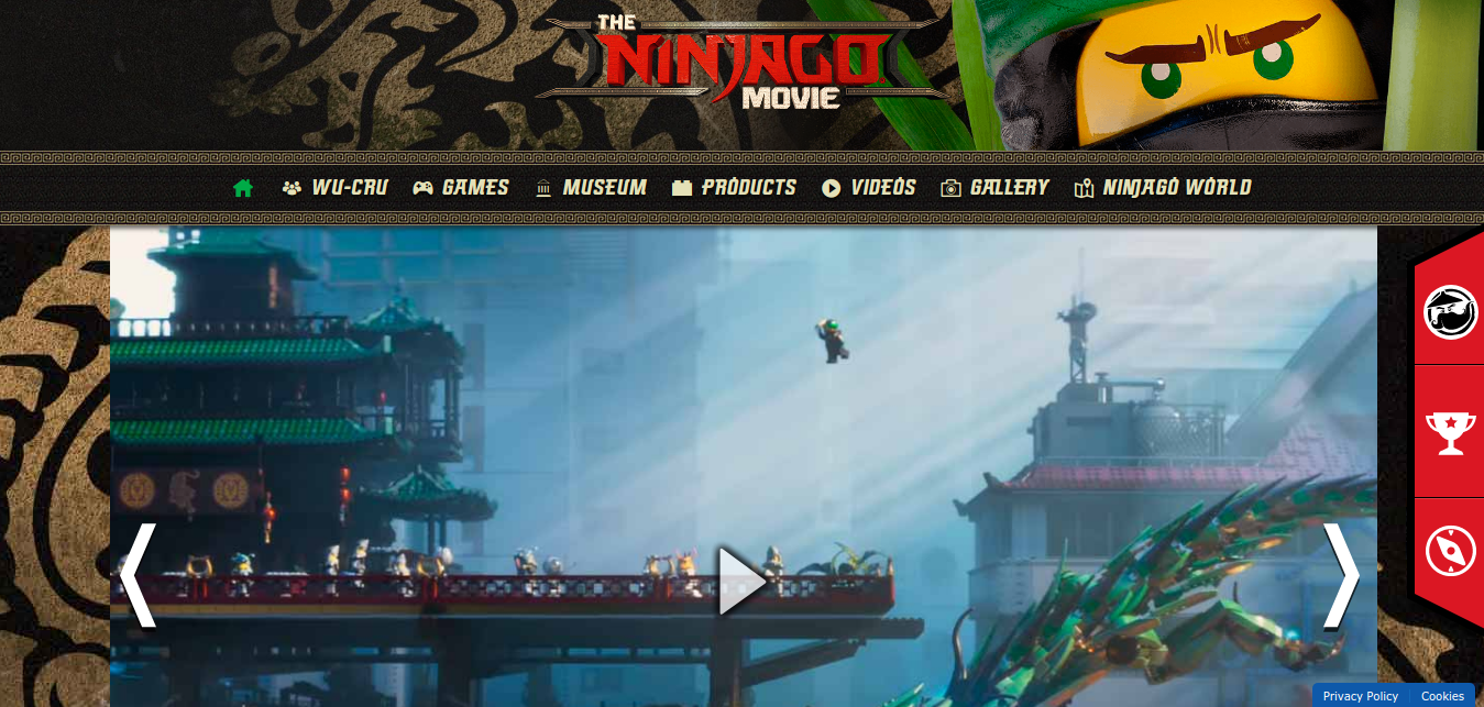 NINJAGO website updated to reflect movie