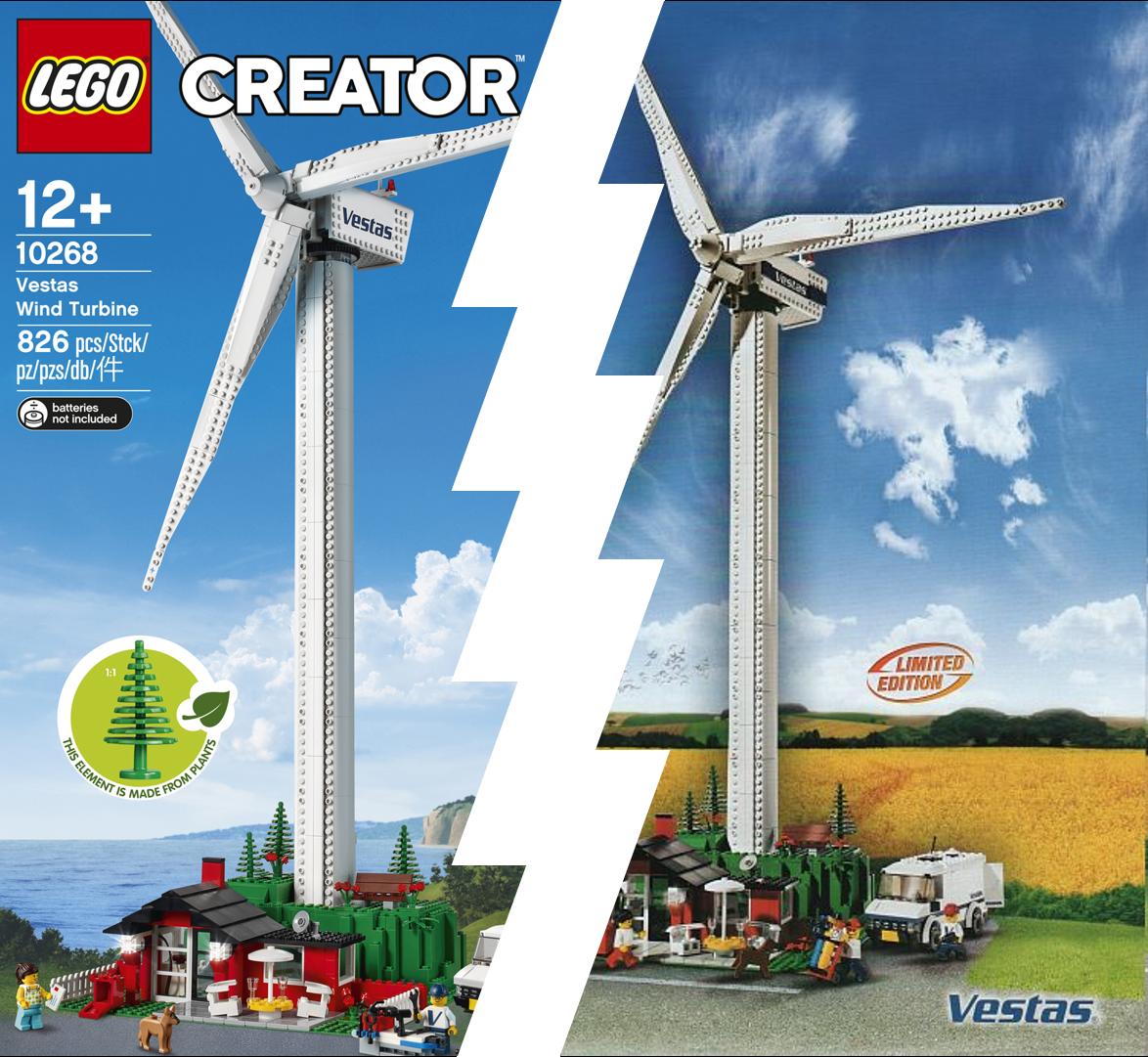 4999 / 10268 Vestas Wind Turbine - What has changed? | Brickset