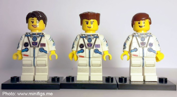 LEGO minifigures become real astronauts | Brickset: LEGO set guide ...