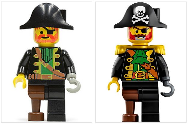 NEW Lego Pirate MINIFIG HEAD Kingdoms Castle Knight King w//Brown Beard Moustache