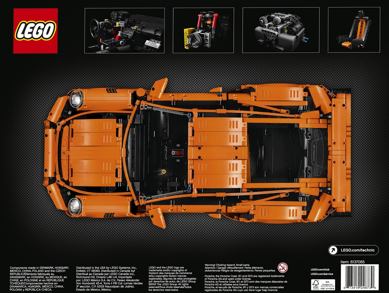 Technic 42056 Porsche 911 Gt3 Rs Brickset Lego Set