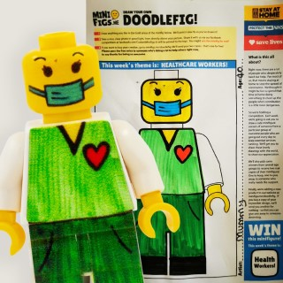 Doodle a key worker minifigure competition