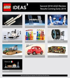 LEGO Ideas Review Results!