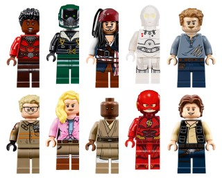 Which actor has the most minifigures?