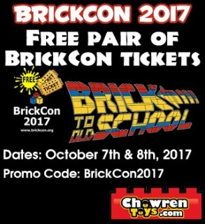 Free tickets for BrickCon, 7-8 October, Seattle, WA