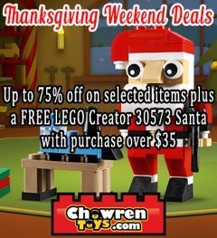 Thanksgiving weekend offers at Chowren Toys