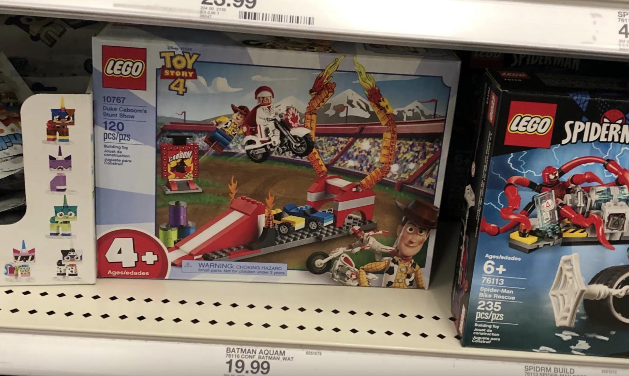 LEGO 10767 Disney Pixars Toy Story 4 Duke Caboom/'s Stunt Show Building Toy Set