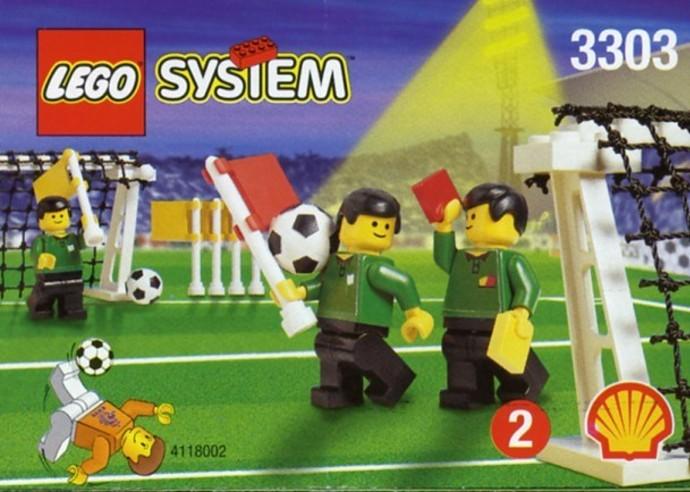 Lego 1 Lego Black soccer sport stick goalie Town City