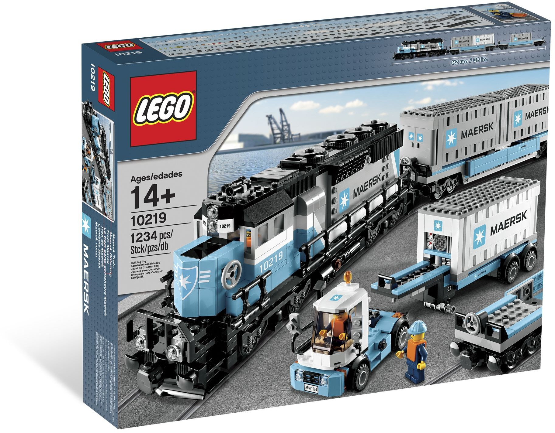 Set Nou: 10219 Maersk Train