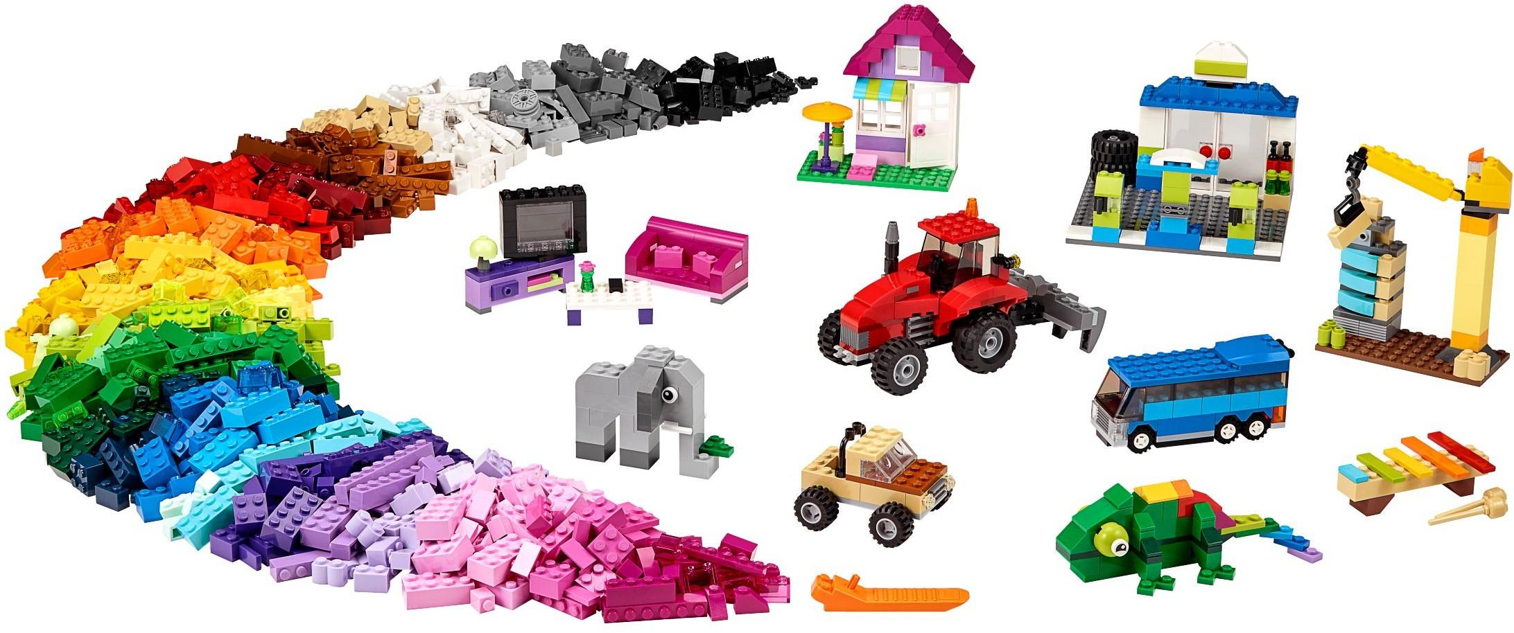 Lego classic large creative box 10697 walmart black friday deal the brick - Lego construction maison ...