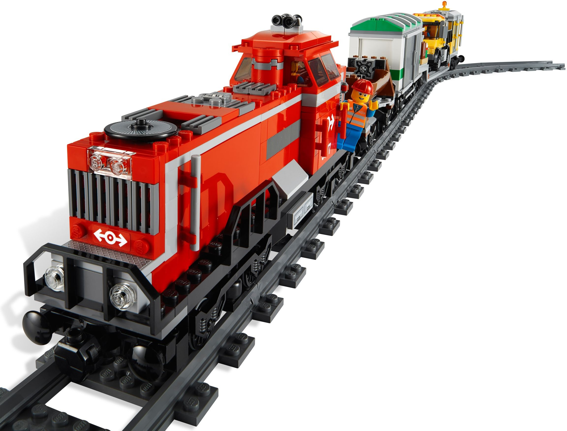 3677 - Red Cargo Train
