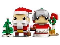 Конструктор LEGO (ЛЕГО) BrickHeadz 40274 Семья Деда Мороза Mr. & Mrs. Claus