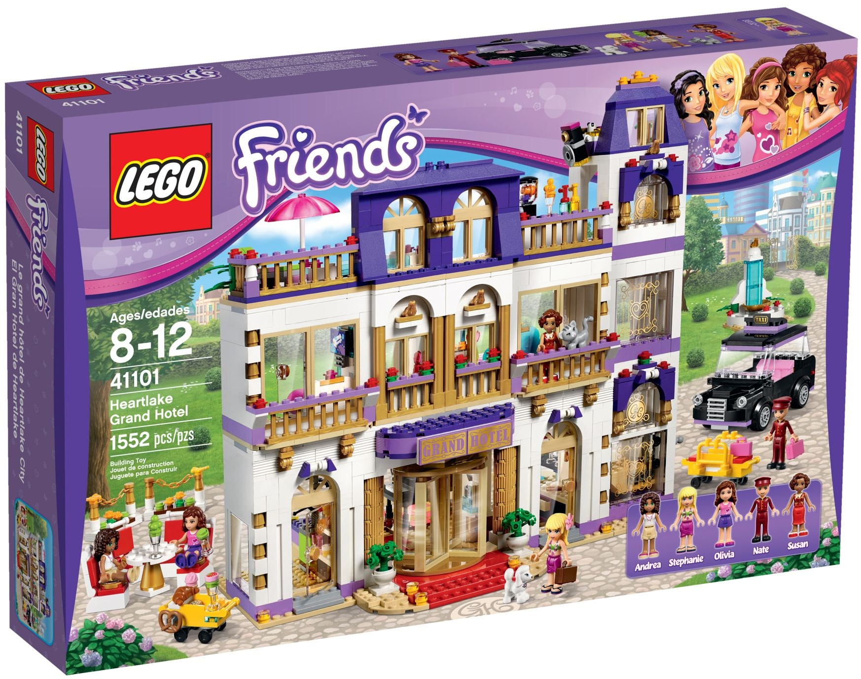 Lego Friends 41101 Heartlake Grand Hotel Review Brickset Lego Set