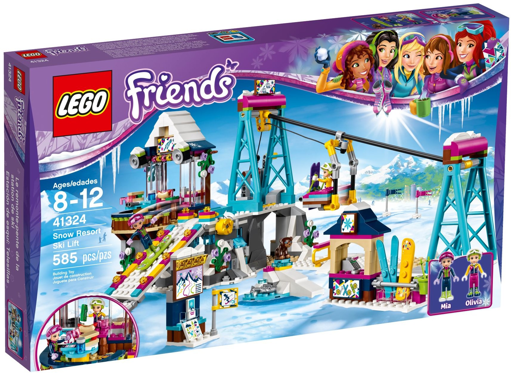 Lego Friends 41324 Snow Resort Ski Lift Review Brickset Lego Set