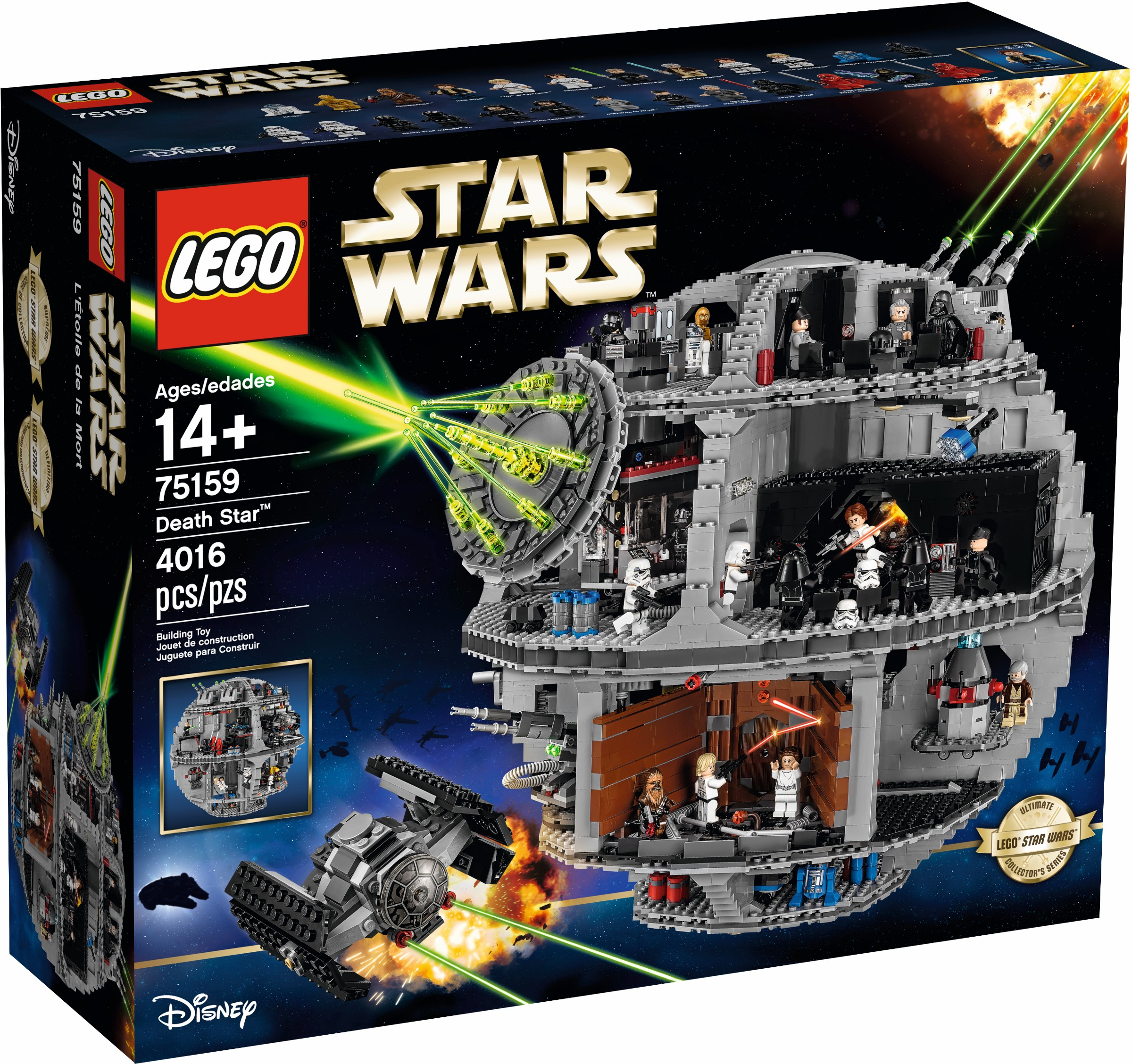 Lego Star Wars 75159 Death Review Brickset Set Guide Defy Stove Wiring Diagram Three White Boxes And Some Loose Numbered Bags Are Found Inside The Instruction Manual Is Packed In One Of These Wire Bound Just Like
