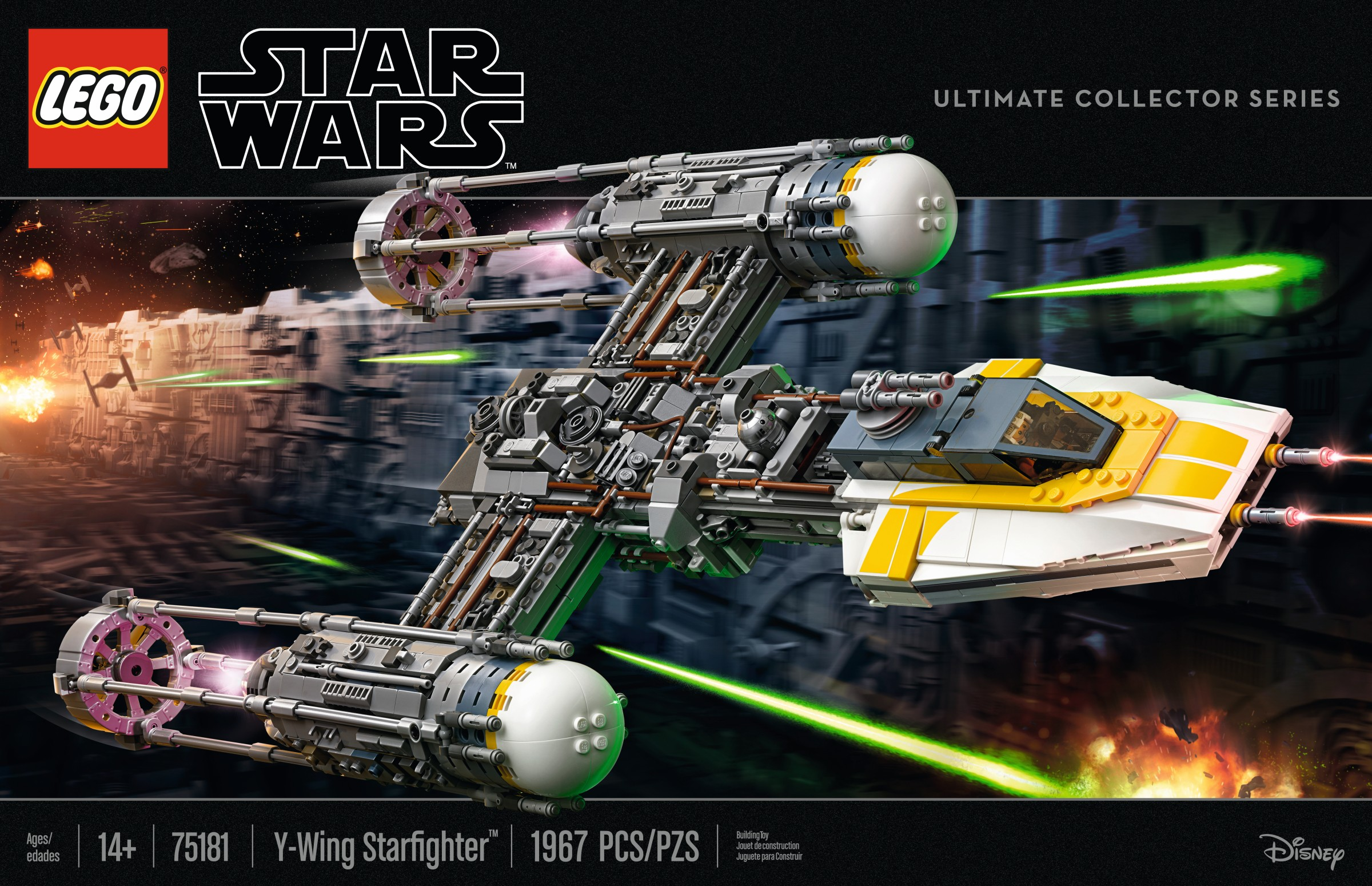 Review 75181 Y Wing Starfighter Brickset Lego Set Guide And Database