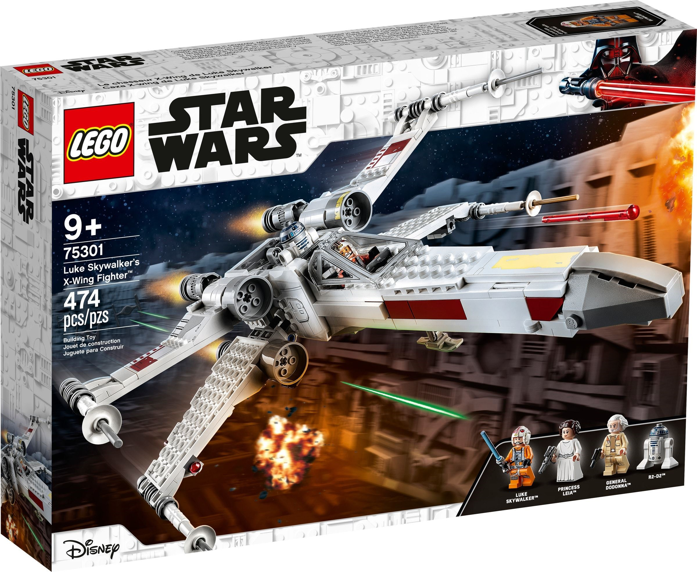 Red 5 X Wing 75301 All Details