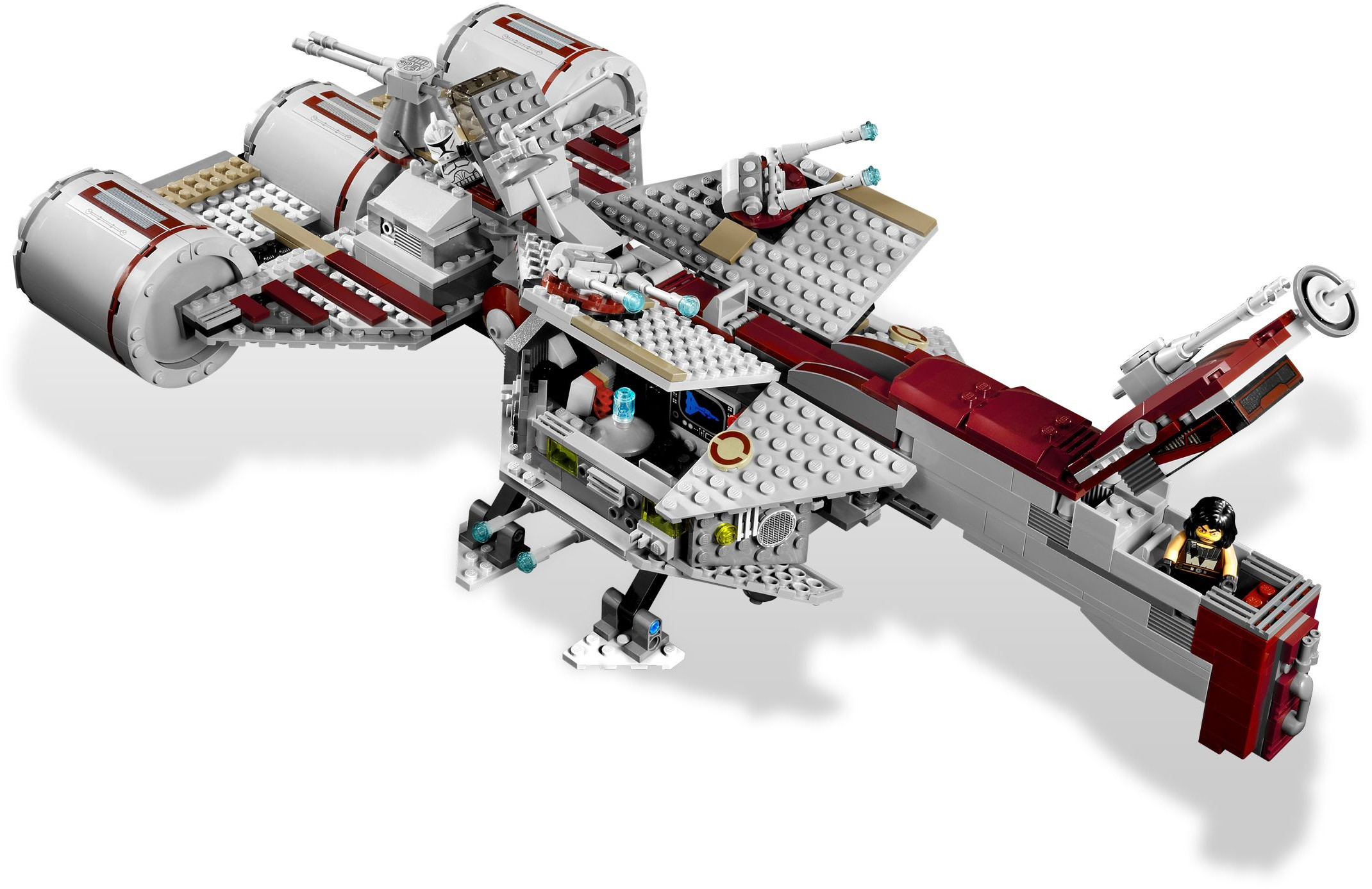 Lego 7964 Republic Frigate 7665 Star Wars Cruiser Take The Jedi Knights And Clone Heroes Into Battle With