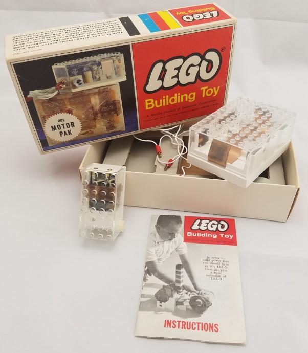 Lego 002 4.5V Samsonite Gears Motor Set image