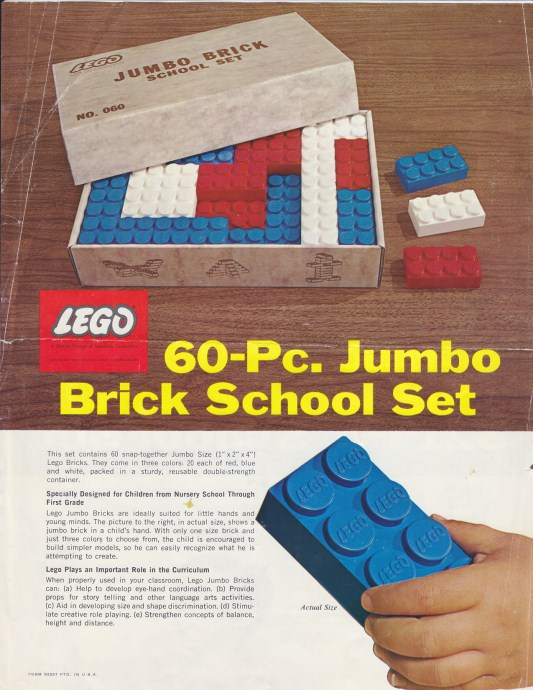 Lego 060 Jumbo Brick School Set image