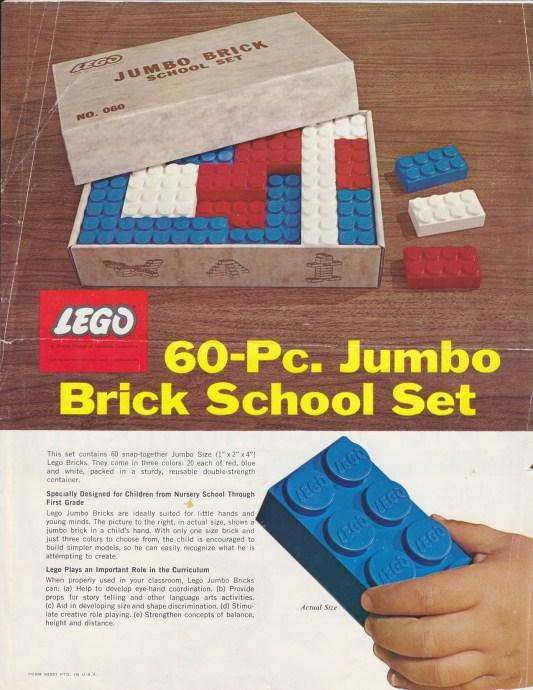 Изображение набора Лего 060 Jumbo Brick School Set
