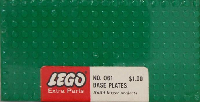 Изображение набора Лего 061 5 - 10X20 base plates - Green