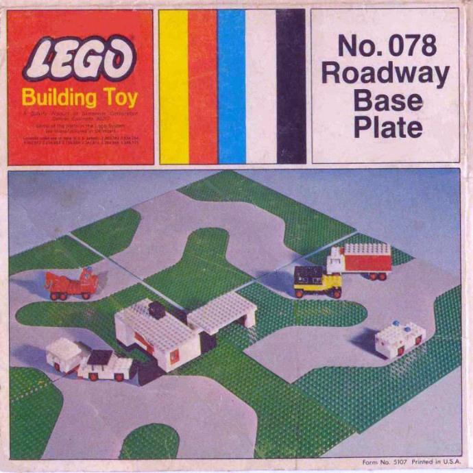 Изображение набора Лего 078 Roadway Base Plate 50X50