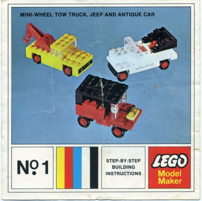 Lego 1 Mini-Wheel Model Maker No. 1 (Kraft Velveeta) image