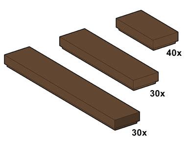 Изображение набора Лего 10046 Brown Tiles