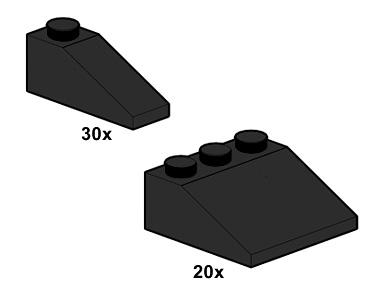 Lego 10055 Black Roof Tiles image