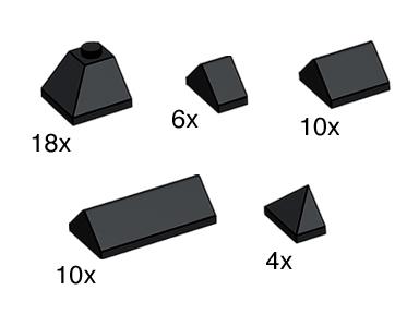 Изображение набора Лего 10160 Black Ridge Tiles