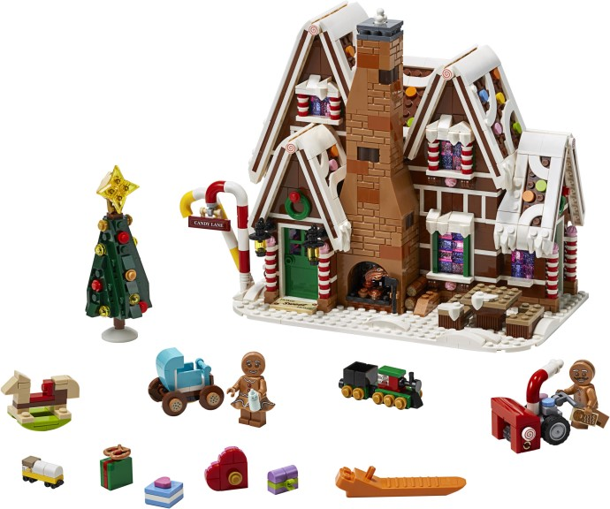 This delicious gingerbread house is this year's winter village set