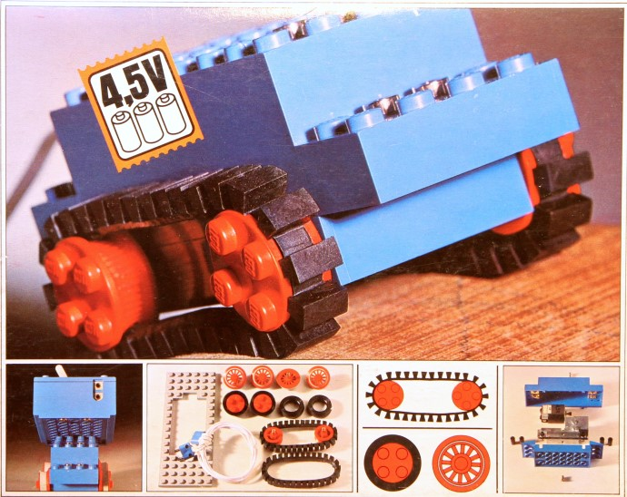 Lego 103 4.5V Motor Set with Rubber Tracks image
