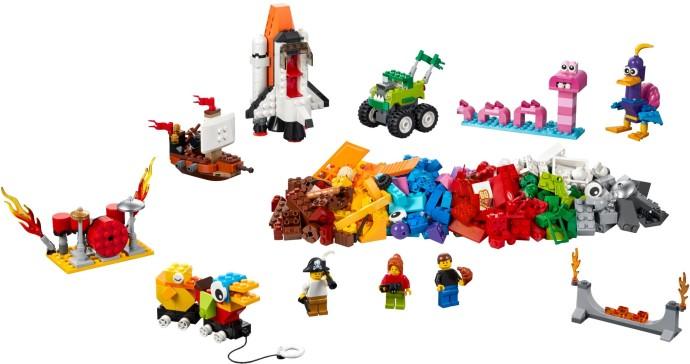10 LEGO 1X4 DOT MEDIUM AZUR BRICKS PARTSs B871