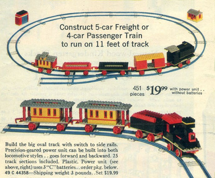 Изображение набора Лего 118 Motorized Freight or Passenger Train (Sears Exclusive)