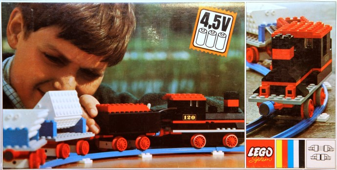 Lego 120 Complete Freight Train Set with Tipper Trucks image