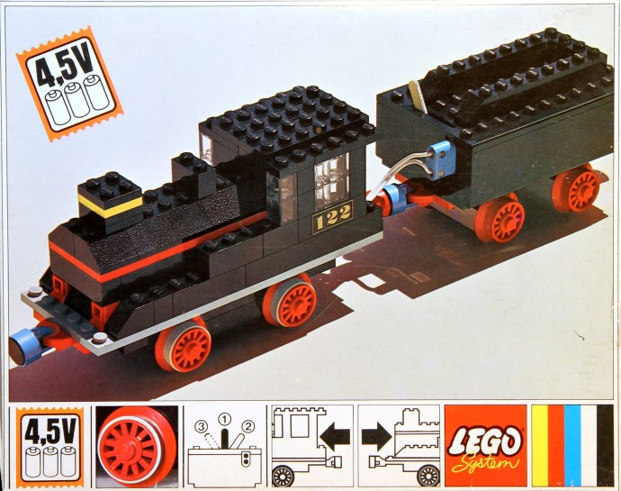 Lego 122 Loco and Tender image