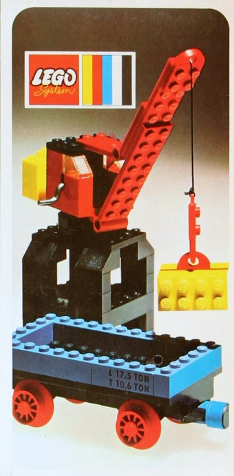Lego 132 Port Crane and Flat Wagon image
