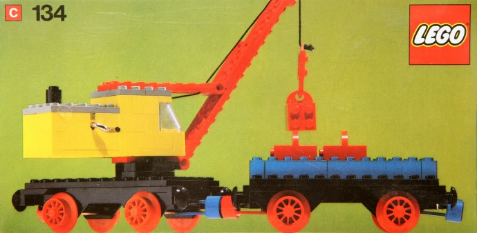 Lego 134 Mobile Crane and Wagon image