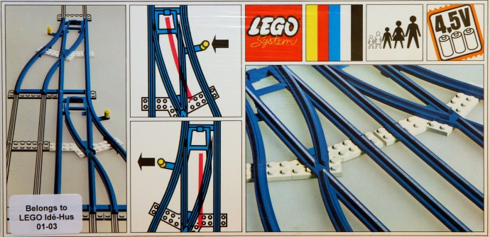 Lego 154 Switch Track - 1 Right and 1 Left image