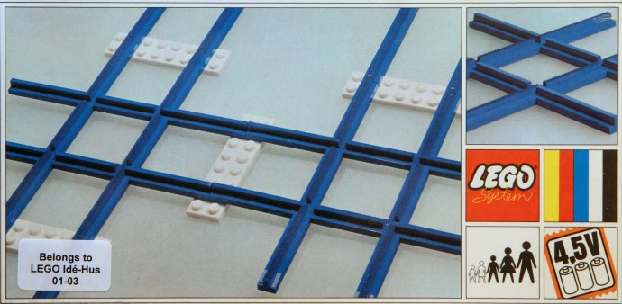 Lego 155 2 Cross Rails, 8 Straight Tracks, 4 Base Plates image