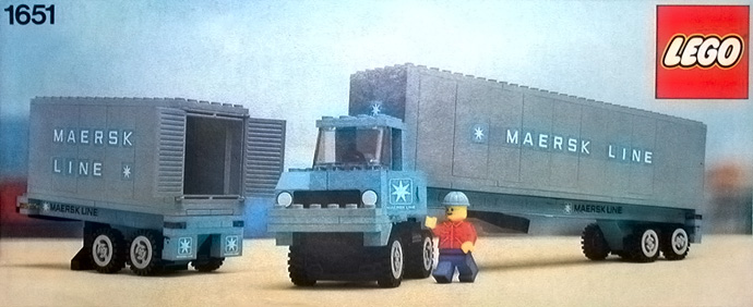 Lego 1651 Maersk Line Container Lorry image