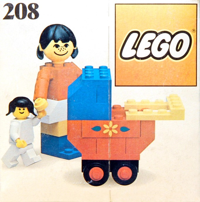 Lego 208 Mother with baby image