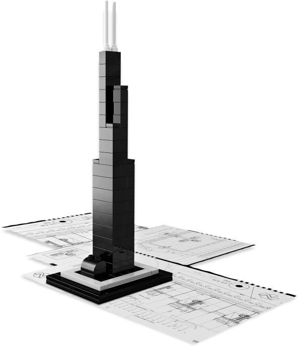 21000 1 Sears Tower Brickset Lego Set Guide And Database
