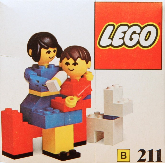 Lego 211 Mother and baby with dog image